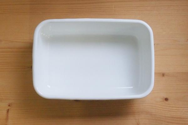 日本【野田琺瑯】長深型保存盒附透明蓋M 0.85L J-01-NKH-011