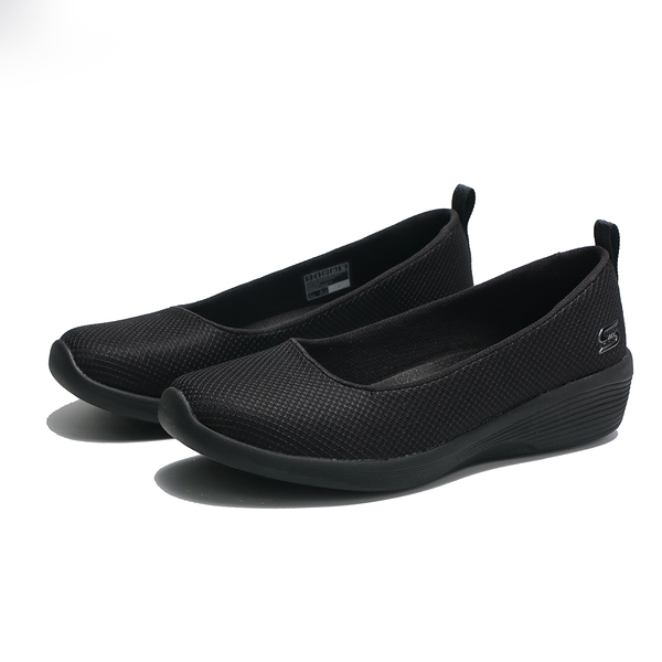 SKECHERS 休閒鞋 ARYA DALY LUSTER 全黑 網布 娃娃鞋 女 (布魯克林) 104114BBK