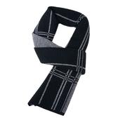 羊毛圍巾-針織拼色格紋商務男披肩6款73wh63[時尚巴黎]