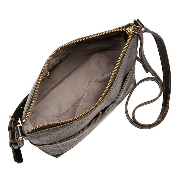 FOSSIL AMELIA 真皮瘦瘦水桶包-黑色 SHB2085001