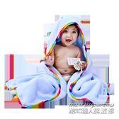 嬰兒浴巾竹纖維比純棉紗布吸水超柔寶寶浴袍帶帽方形初生兒童斗篷
