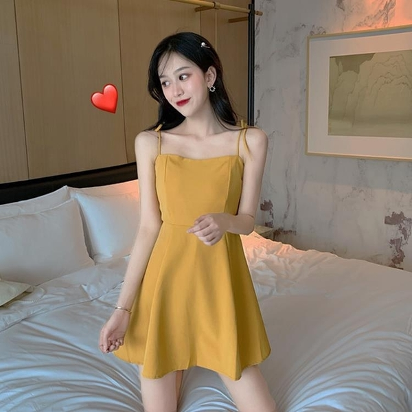 性感洋裝 吊帶洋裝性感氣質顯瘦收腰日系小個子仙女超仙森系裙子夏2020年 果果生活館