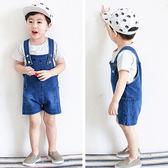 寶寶牛仔背帶短褲2018夏季兒童裝薄款