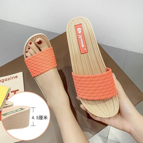 拖鞋女外穿高跟女款涼拖 2020時尚百搭增高厚底ins氣質夏網紅同款