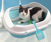 貓砂盆 貓砂盆大號貓廁所半封閉貓咪沙盆大碼雙層貓砂盤特大號除臭貓屎盆 夢藝家