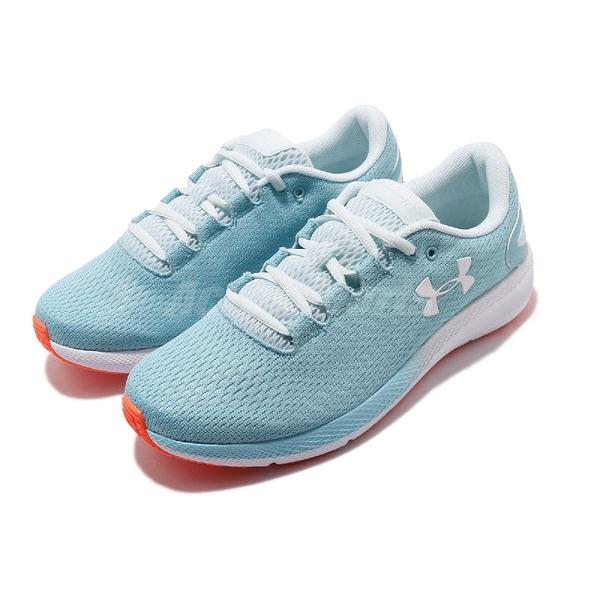 Under Armour UA 慢跑鞋 W Charged Pursuit 2 藍 白 女鞋 運動鞋 【ACS】 3022604400