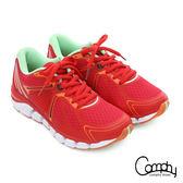 Comphy 厚切超氣囊 輕量彈力綁帶奈米健走運動鞋  紅