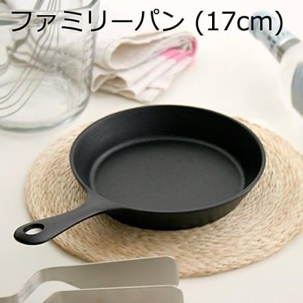 日本鑄鐵鍋南部鐵器【岩鑄 iwachu】鑄鐵平底鍋17cm  單柄鍋 煎鍋