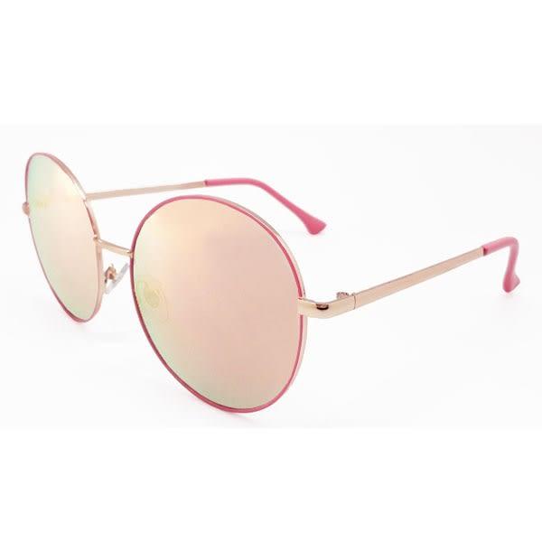 OT SHOP太陽眼鏡‧韓系質感圓框抗UV中性墨鏡‧漸層黑/白/粉框玫瑰金/粉綠反光‧現貨四色‧U29