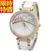 鑽錶-優質時尚率性女腕錶2色5j54[巴黎精品]
