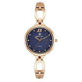 新品上市 ◢BENTLEY 賓利◣ 優雅三針石英女錶  日本機芯 德國製造BL1857-10LRNI玫瑰金X藍