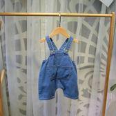 全館85折童裝兒童夏裝2019新款男嬰兒背帶褲0一3歲女寶寶小童夏季吊帶短褲 森活雜貨