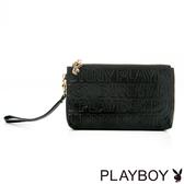 PLAYBOY- 手拿包 Fashion Brand 時尚烙印系列-時尚黑