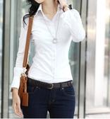 襯衫 修身襯衣顯瘦職業工正裝上衣白襯衫女式長袖