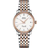 MIDO美度 Baroncelli III 永恆系列機械女錶-銀x雙色/33mm M0272072201000