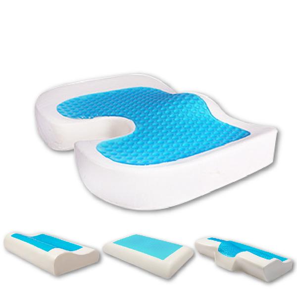 【實測降3度!涼感坐墊 太記憶坐墊】涼感枕頭 3D清涼 舒壓坐墊 座墊 軟墊 痔瘡坐墊 痔瘡