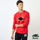 男裝Roots-新年系列圓領上衣-紅色