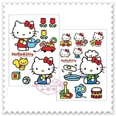 ♥小花花日本精品♥ Hello Kitty 松鼠 全身造型 花朵 小拖拉車 澆花 裝飾 防水 壁貼 33179308