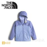 【The North Face 女童 DV刷毛保暖外套《紫藍》】NF0A2RCVV5Q/刷毛保暖/防水透氣/兒童外套
