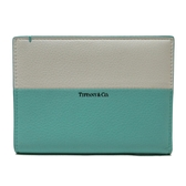 Tiffany & Co 蒂芬妮 蒂芬妮綠拼白色護照夾 【二手名牌BRAND OFF】