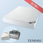 床包-TENDAYs 備長炭床包型保潔墊6尺加大雙人床包套