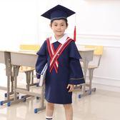 幼兒園畢業服 幼兒園學士服兒童博士服畢業禮服畢業照小學生錶演服裝演出畢業袍 珍妮寶貝