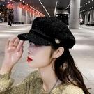 貝雷帽女韓版潮秋冬季帽子女八角帽英倫復古時尚網紅款百搭鴨舌帽一米