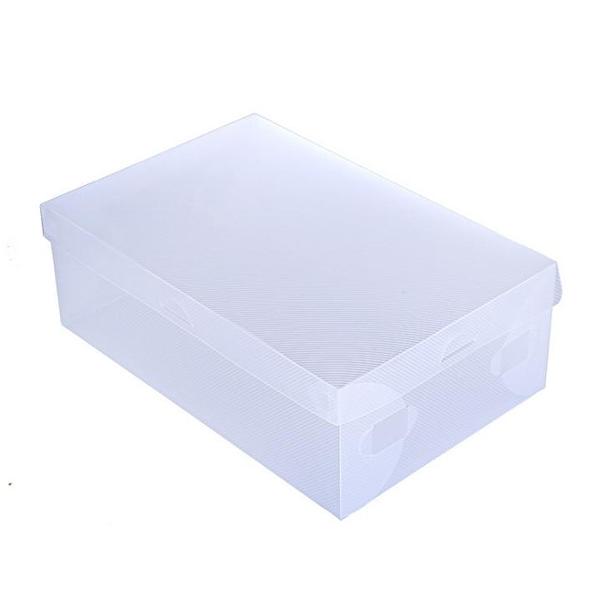 【透明可摺疊式鞋盒(小) 】女鞋適用 透明鞋盒 手提式收納鞋盒 收納盒