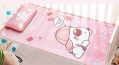 嬰兒涼席冰絲新生兒幼兒園兒童午睡席子小寶寶嬰兒床涼席透氣夏季   LannaS