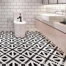浴室廚房瓷磚自黏貼紙防油牆紙耐磨翻新衛生間防水地貼防滑地板貼 NMS怦然新品