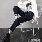 牛仔褲女直筒寬鬆春秋冬季2020年新款高腰顯瘦加絨哈倫老爹女褲子 小艾新品
