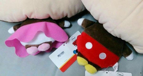 【現貨】《迪士尼》正版授權【Q版大頭小身米奇米妮】絨毛娃娃玩偶玩具生日禮物情人節禮物