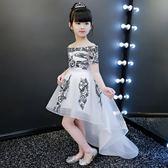 洋裝 2018女童鋼琴演出服走秀兒童婚紗蓬蓬裙主持人拖尾公主裙晚禮服夏 開學季特惠