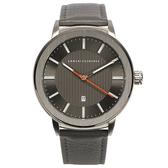 A/X Armani Exchange 知性簡約都會真皮錶帶男腕錶45mm(AX1462)271005