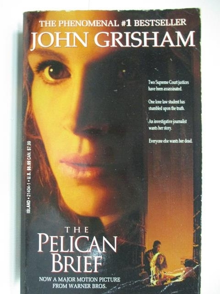 【書寶二手書T1/原文小說_ABP】The Pelican Brief_John Grisham