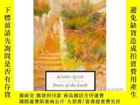二手書博民逛書店Fruits罕見Of The EarthY256260 Andre Gide Penguin Classics