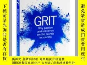 二手書博民逛書店堅毅罕見英文原版 英文版 Grit 自我提升與創造力 Angel