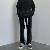 休閒褲寬松高街直筒褲秋季長褲衛褲運動褲闊腿褲潮【毒家貨源】