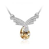 水晶項鍊+925純銀吊墜-璀璨鑲鑽生日情人節禮物女飾品5色73bb376【時尚巴黎】