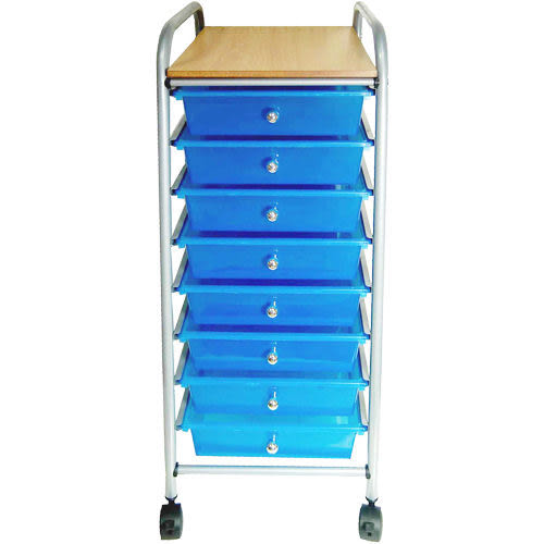 《家購網寢俱館》收藏家系列-附輪八抽收納櫃