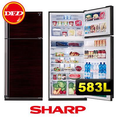 送原廠為波爐✦SHARP 夏寶 SJ-PD58V-BK 583L 變頻雙門 冰箱 玄武黑 公司貨 ※運費另計(需加購)