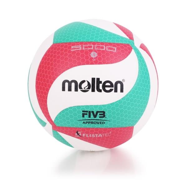 MOLTEN #5合成皮排球-5號球 白紅綠