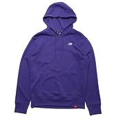 NEW BALANCE 帽T 紫 小LOGO 刺繡 基本款 連帽 棉 長袖 男 (布魯克林) AMT11550PRP