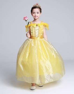 萬聖節 美女與野獸貝兒公主服連衣裙表演禮服(100~140cm)