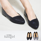 尖頭金蔥平底鞋-2色~funsgirl芳子時尚