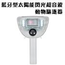 金德恩 台灣製造 藍牙型太陽能閃光超音波動物驅逐器/物理驅族/紅外線/全年無休