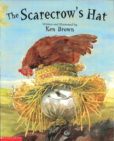【麥克書店】THE SCARECROW'S HATS/ 平裝繪本《主題: 品格教育》
