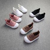 寶寶帆布鞋男1-2-3歲小童潮鞋軟底女童寶寶布鞋休閒鞋套腳懶人鞋 一件免運