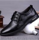 皮鞋 皮鞋男黑春季軟底英倫內增高男士真皮休閒商務正裝鞋子加絨男鞋【快速出貨八折下殺】