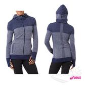 亞瑟士ASICS 女針織外套(藍紫) 加長袖長與拇指孔設計 無縫線樣式 零束縛 151389-8052【 胖媛的店 】